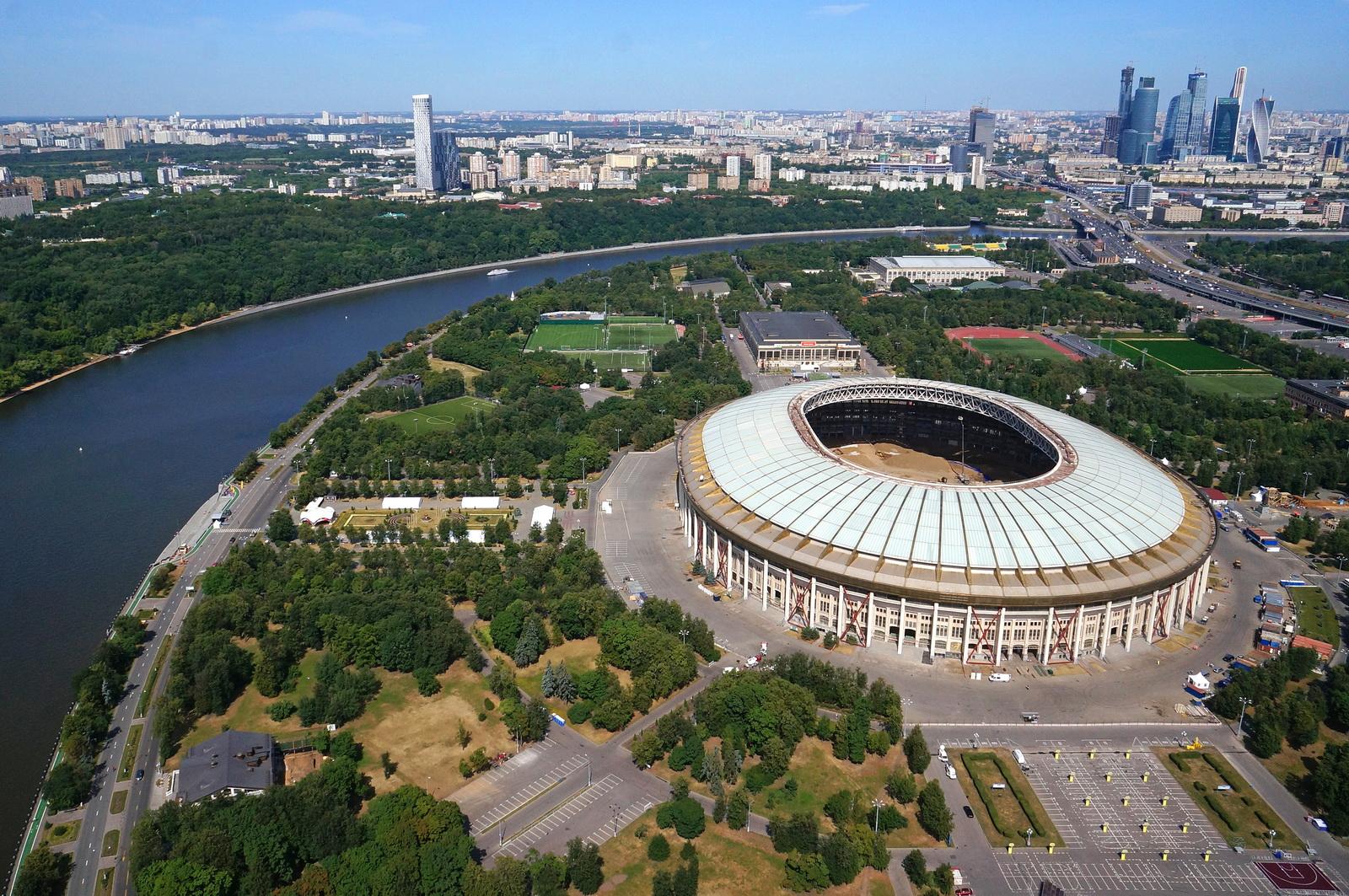 Москве на стадионе «Лужники»